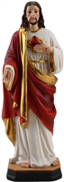 Sacred Heart of Jesus 8 inch resin statue