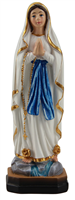 Our Lady of Lourdes 5 inch stone resin statue