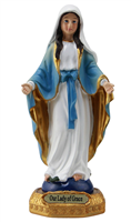 Our Lady of Grace 5 inch resin statue