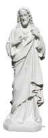 Sacred Heart of Jesus 28 inch resin statue