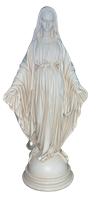 Virgin Mary 17 inch resin statue