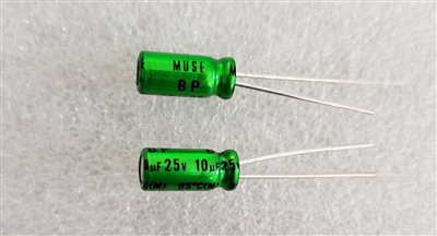 10uf 25v Nichicon Muse UES BP Audio Grade Electrolytic Capacitor