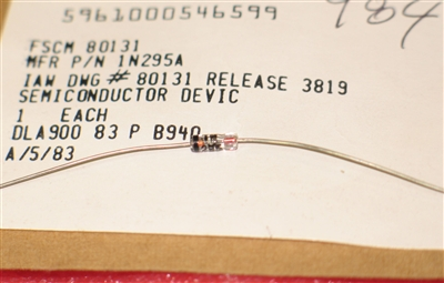 1N295A Mil Spec Germanium Diode Individually Sealed 5961-00-054-6599