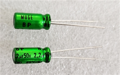 2.2uf 50v Nichicon Muse UES BP Audio Grade Electrolytic Capacitor