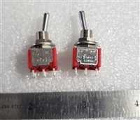 Mini DPDT Toggle Switch On/On Solder Lugs