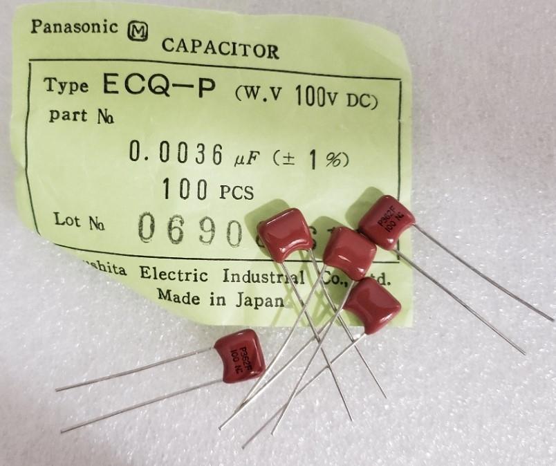 Panasonic ECQ-E Metal Polyester Film Capacitors Bag Of 100