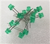10 Pack Green 5mm LED's Clipping Diodes LEDs
