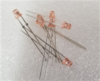 10 Pack Pink Peach 3mm LED's Clipping Diodes LEDs
