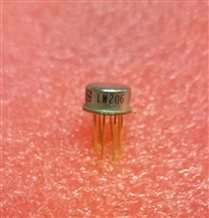 LM206 TO-99 Metal Can Gold Leads Mil Spec Voltage Comparator NS