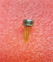 LM301AH Single Opamp TO-99 Metal Can Gold Leads Mil Spec NS LM301
