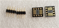 SOIC8 TSOP8 SSOP8 TSSOP8 MSOP8 TO DIP8 DUAL SINGLE OPAMP ADAPTER WITH GOLD HEADERS