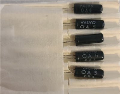 OA5 NOS Germanium Diode VALVO Black Glass