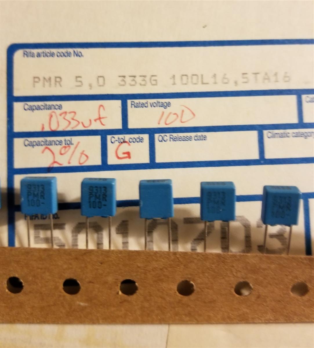 Metallized Polyester Film Capacitor 0,12uF//100V 5 PCS