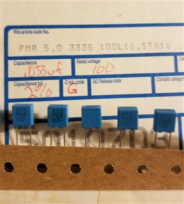 .033uF 63V 50V 2.5/% WIMA FKP2 polypropylene capacitors audio 10 pcs