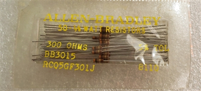 50 Pack Sealed Allen Bradley RC05 Carbon Comp Resistors 1/8W 5% Mil Spec
