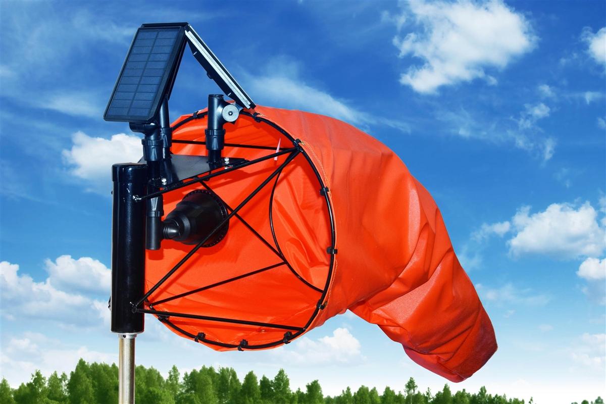Airport Windsock Corporation 13 X 54 Orange Windsock and 13 Ball ...