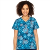Med Couture  V-Neck Anna Print Top in Snowflake Serenade
