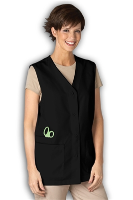 Peaches Three Pocket Vest in Black