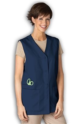 Peaches Three Pocket Vest in Navy