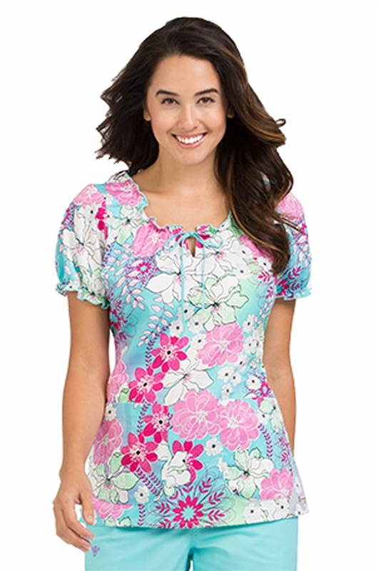 Med Couture Suzie Print Top in In Full Bloom