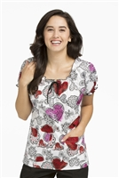 Peaches Suzie Print Top in Sweethearts