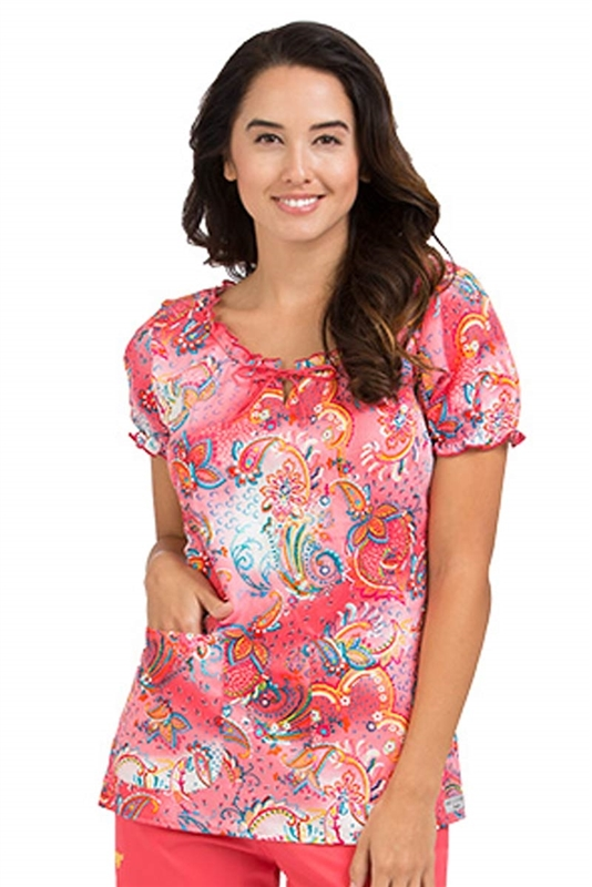 Med Couture Suzie Print Top in Whimsical Style