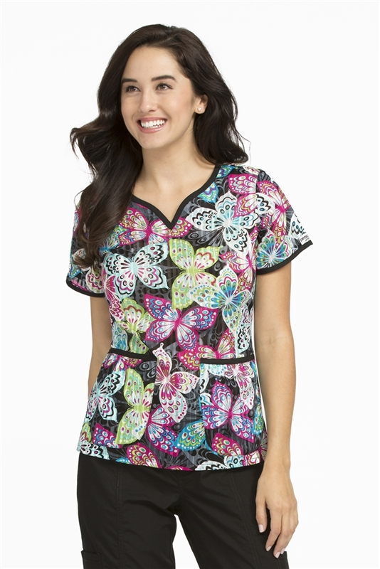 Peaches Natasha  Print Top in Bright & Breezy