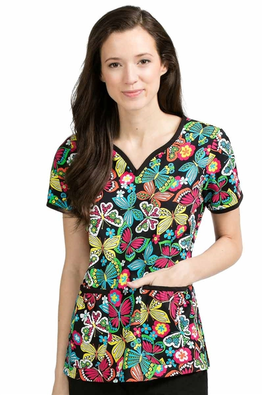 Med Couture Natasha Print Top in Brightly Buzzed