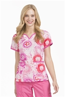 Peaches Natasha  Print Top in Sugar & Spice