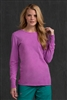 Med Couture Lady's Long Sleeve Tee Shirt in Orchid- $18.99