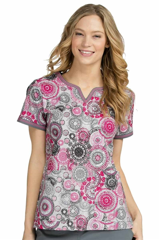 Med Couture Ella Print Top in Marvelous Medallions
