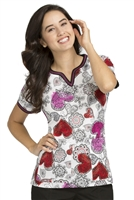 Peaches Ella  Print Top in Sweethearts