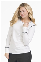 Live is Peachy Long Sleeve Lip Tee in White/Black