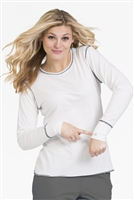 Live is Peachy Long Sleeve Lip Tee in White/Steel
