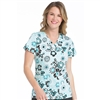 Med Couture Valerie Print Top in Breezy Blooms