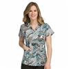 Med Couture Valerie Print Top in Fall Media
