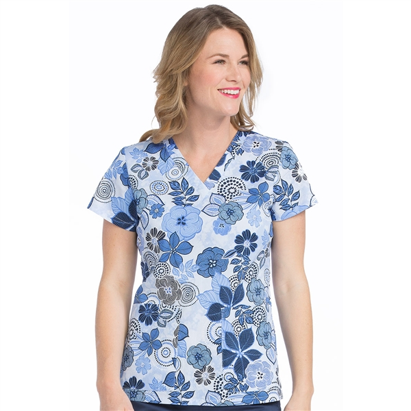 Med Couture Valerie Print Top in Showers Of Flowers