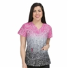 Med Couture Valerie Print Top Inside Out