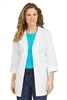 "Peaches 31"" Banded Lab Coat in White"