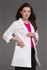 "Peaches 32"" Tablet Holder Lab Coat in White"