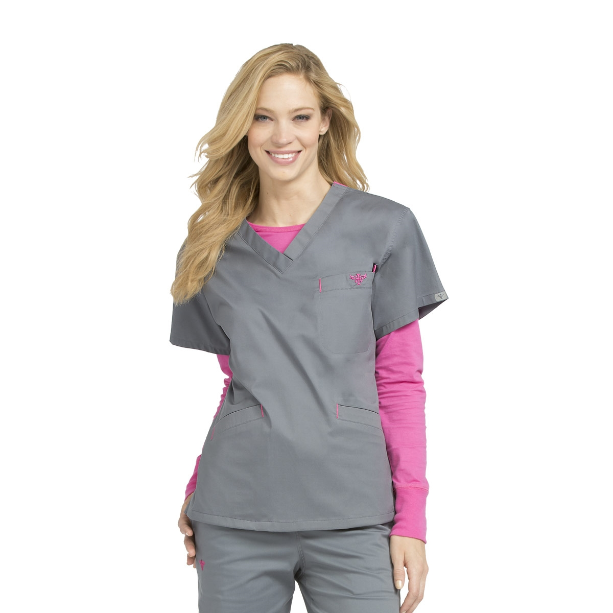 9d88cbf4471 Med Couture Signature V-Neck Top - Great selection of color combinations
