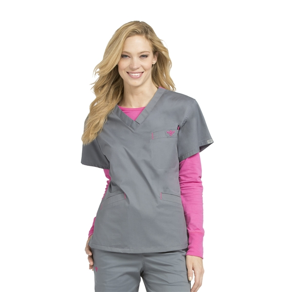Med Couture Signature V-Neck Top
