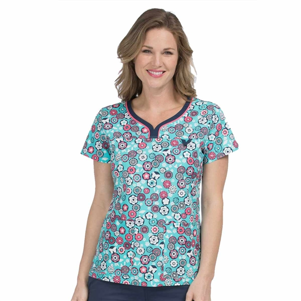 Med Couture MC2 Lexi Top in Medley Dot