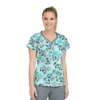 Med Couture MC2 Lexi Top in Tantalizing Floral