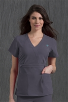 Med Couture Milan Top in Steel - $25.99