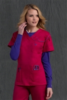 Med Couture Media Top in Berry/Imperial - $25.99