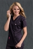 Med Couture Media Top in Charcoal/Powder Pink - $25.99
