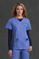 Med Couture Media Top in Ceil/Navy - $25.99