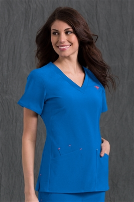 Med Couture Riviera Top in Royal - $25.99