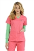 Med Couture Moda Top in Apricot/Key Lime - $23.99